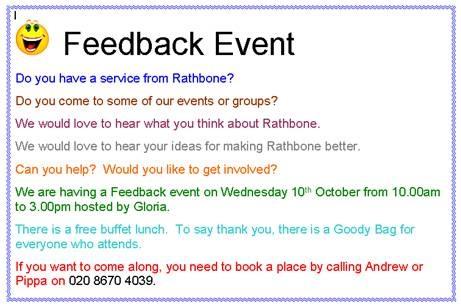 Feedback Event 10.10.12